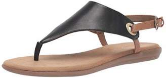 Aerosoles Women's in Conchlusion Sandal - Leather Toe Strap Summer Flat Shoe with Memory Foam Footbed (M - )
