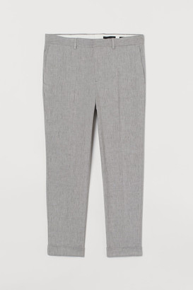 H&M Skinny Fit Suit Pants - Gray