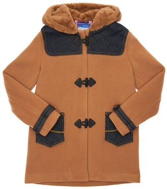 Jacob Cohen Hooded Wool Blend Coat