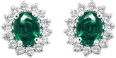 Diana M Fine Jewelry 14K 0.85 Ct. Tw. Diamond & Emerald Earrings