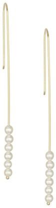 Mizuki Six 3 - 3.5MM Pearl & 14K Yellow Gold Drop Earrings