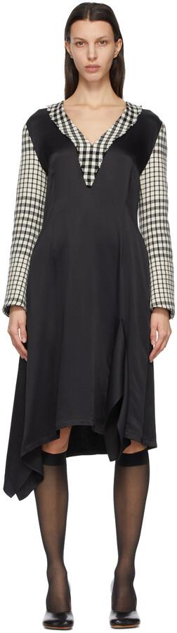 MM6 MAISON MARGIELA Black & White Check Dress