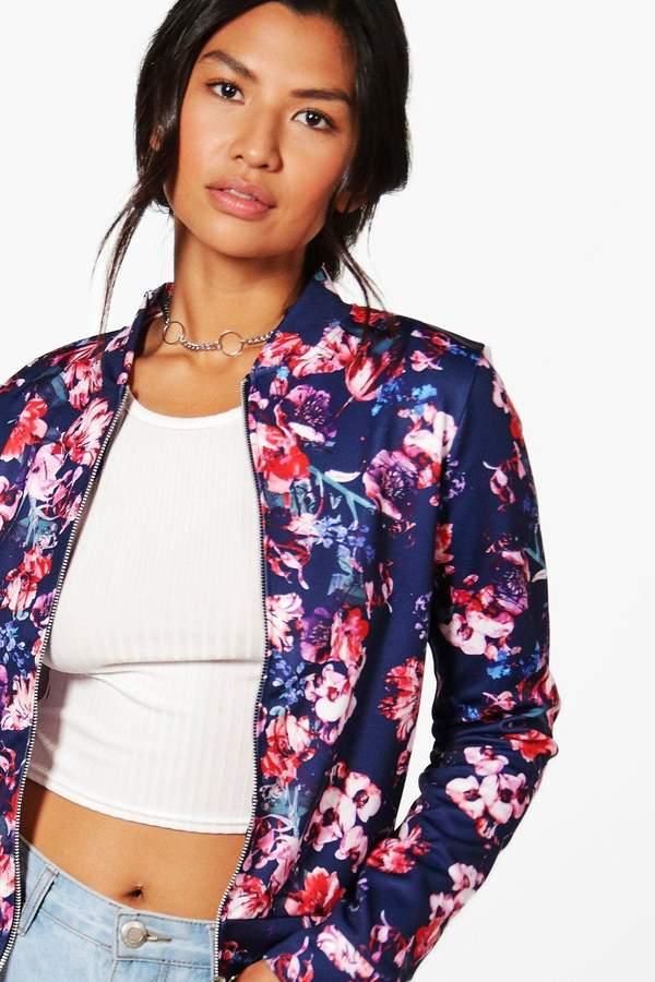 boohoo Alisha Floral Bomber Jacket
