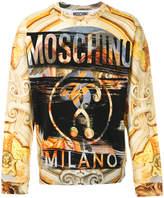 Moschino baroque print sweatshirt