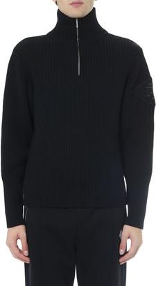 Diesel Black Wool High Collar Sweater