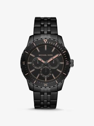 Michael Kors Oversized Cunningham Black-Tone Watch
