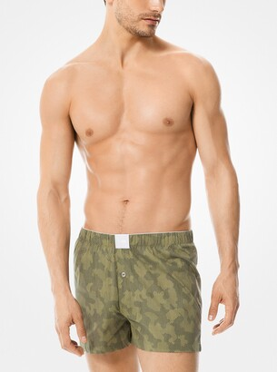 Michael Kors 2-Pack Printed Stretch Cotton-Poplin Boxers