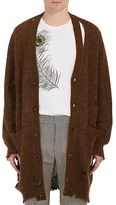 Alexander McQueen Men's Distressed Mohair-Silk Oversized Cardigan