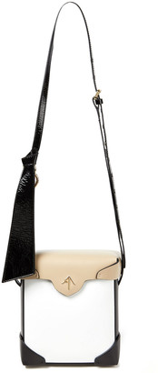 MANU Atelier Pristine Mini Color-block Leather Shoulder Bag