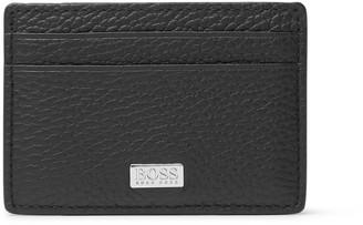 HUGO BOSS Crosstown Full-Grain Leather Cardholder With Money Clip