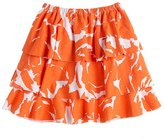 Girls' Brushstroke-print tiered skirt