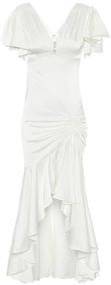 Caroline Constas Exclusive to Mytheresa Lucille stretch-silk satin gown