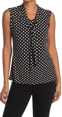 Love by Design Harvard Sleeveless Tie Neck Top