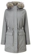 Phase Eight Caprice Faux Fur Trim Puffer Coat, Silver Grey