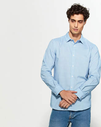 Perry Ellis Slim Fit Stretch Print Long Sleeve Sport Shirt