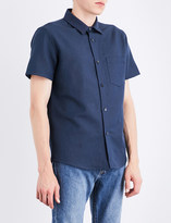 A.P.C. Bryan cotton and linen-blend shirt