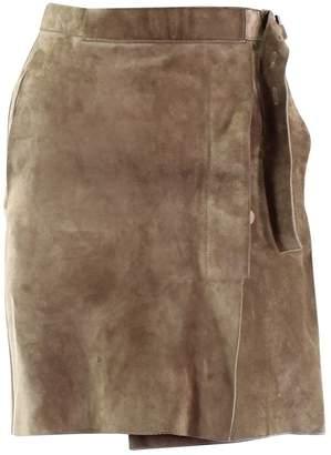 Reed Krakoff Beige Suede Skirt for Women