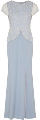 Adrianna Papell Bead Crepe Gown