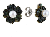 Bella Pearl Pearl & Mother-of-Pearl Floral Stud Earrings