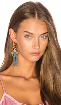 Elizabeth Cole Chiquita Statement Earrings in Blue.