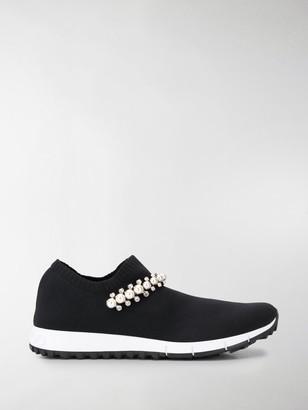 Jimmy Choo Bejewelled Slip-On Sneakers