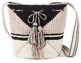 Sole Society Kenya Woven Fabric Bucket w/ Fringe