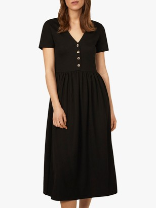 Warehouse V-Neck Pique Dress