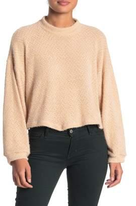 Lush Mock Neck Crop Sweater