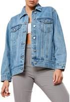 Missguided Oversized-Fit Denim Jacket