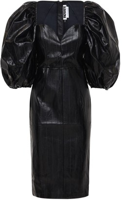 Rotate by Birger Christensen Irina Faux Leather Midi Dress