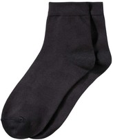 Joe Fresh Women's 2 Pack Quarter Height Socks, Black (Size 9-11)