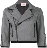 A.F.Vandevorst cropped biker style jacket - women - Cotton - 36
