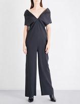 Chalayan V-neck crepe jumpsuit