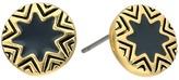 House Of Harlow Enameled Engraved Mini Sunburst Stud Earrings
