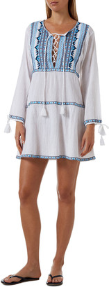 Melissa Odabash Millie Boho-Embroidered Cotton Dress