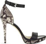 MICHAEL Michael Kors Sienna snake-embossed leather heeled sandals