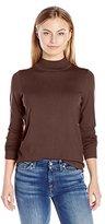 Pendleton Women's Washable Silk-Blend Mock Turtleneck Sweater