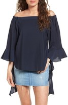 J.o.a. Women's Flare Sleeve Off The Shoulder Blouse