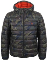 Ralph Lauren Camo Down Jacket Green
