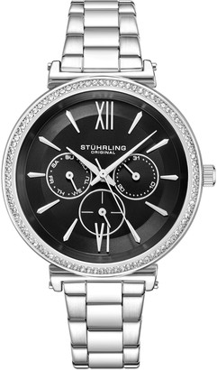 Stuhrling Original Women's Aria Multi-Function Watch with Black Dial