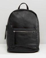 Pieces Simple Backpack With Zip Pocket