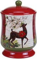 Certified International Winter Garden Reindeer Biscotti Jar