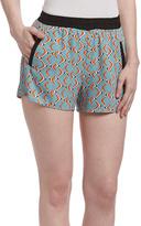 Blue Abstract Shorts