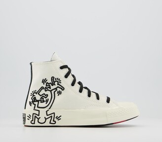 Converse Hi 70s Trainers Keith Haring Egret Black Red