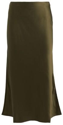 Frame Silk Bias Midi Skirt