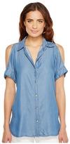 MICHAEL Michael Kors Tencel Cold Shoulder Top Women's Clothing