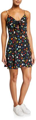 Alice + Olivia Roe Tie-Front Flare Dress