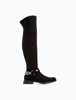 Calvin Klein Akia Suede Stretch High Boot
