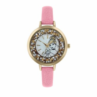 Disney Princess Womens Analogue Classic Quartz Watch with Leather Strap PN5044