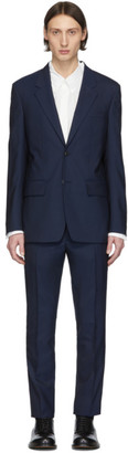 Maison Margiela Navy Wool Poplin Suit